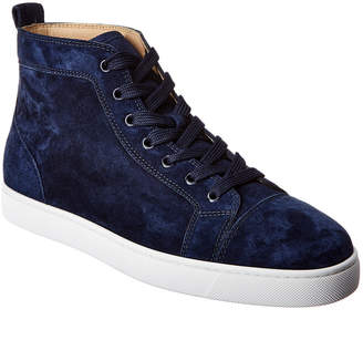 Christian Louboutin Louis Suede High-Top Sneaker