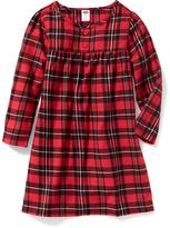 Old Navy Plaid Flannel Sleep Dress for Baby