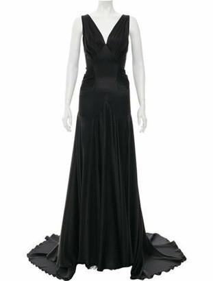 Rochas Silk Maxi Dress Black