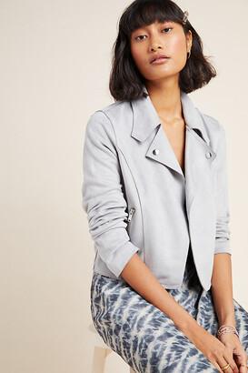Anthropologie Kelyn Sueded Moto Jacket By in Grey Size XS