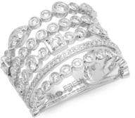 Effy 14K White Gold & Diamond Multi-Stack Ring