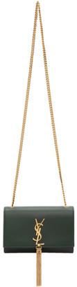 Saint Laurent Green Small Kate Tassel Bag