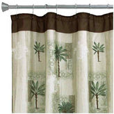 JCPenney Bacova Guild Bacova Citrus Palm Bath Shower Curtain