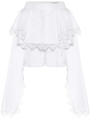Alexander McQueen Cotton and silk shorts