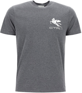 Etro T-shirt With Pegasus Patch
