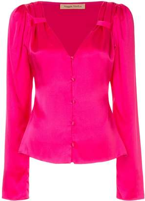 Maggie Marilyn V-neck button blouse