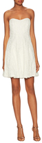 Nicole Miller Mirabell Coral Swirl Lace Dress