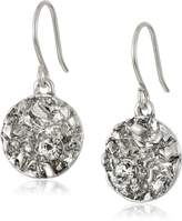Kenneth Cole New York Textured Silver-Tone Drop Earrings