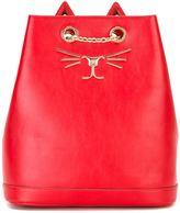 Charlotte Olympia 'Feline' backpack - women - Leather/metal - One Size