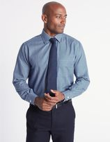 Marks and Spencer Cotton Rich Easy to Iron Regular Fit Shirt