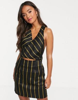 Stevie May Resolution stripe dress-Black
