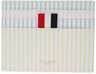 Thom Browne Multicolor Striped Double Sided Card Holder