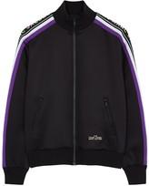 Marc Jacobs Black logo-jacquard jersey track jacket
