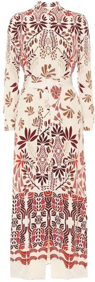 Loro Piana Clara printed silk midi dress