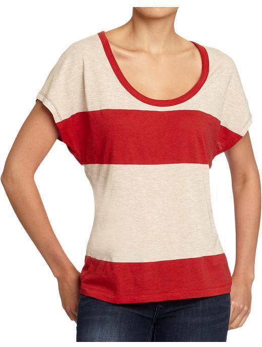Old Navy Women's Striped-Dolman Slub Tees