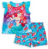 AME Sleepwear Little Mermaid Tee and Shorts Pajama Set