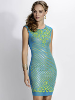 Baccio Couture - Nadit - 3170 Mesh Painted Short Dress