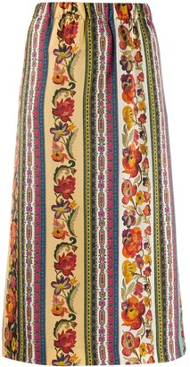 Etro Floral Pencil Skirt