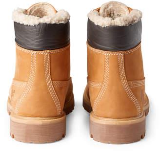 Weekday Premium Fur Boots - Yellow