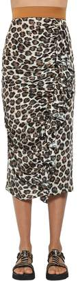 Antonio Marras Leopard Print Techno Midi Skirt