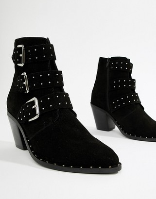 Asos DESIGN Region suede studded ankle boots