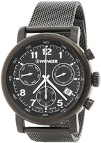Wenger Urban Classic Chronograph Watch - 43mm, Stainless Steel Mesh Bracelet