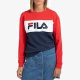 Fila Leah Colour Block Jumper in Cotton Mix with Crew Neck