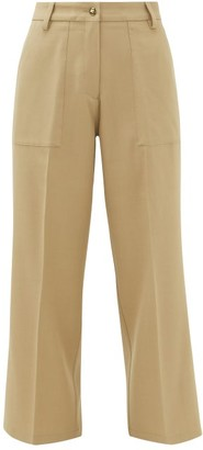 Etro Agave Wide-leg Twill Trousers - Light Brown