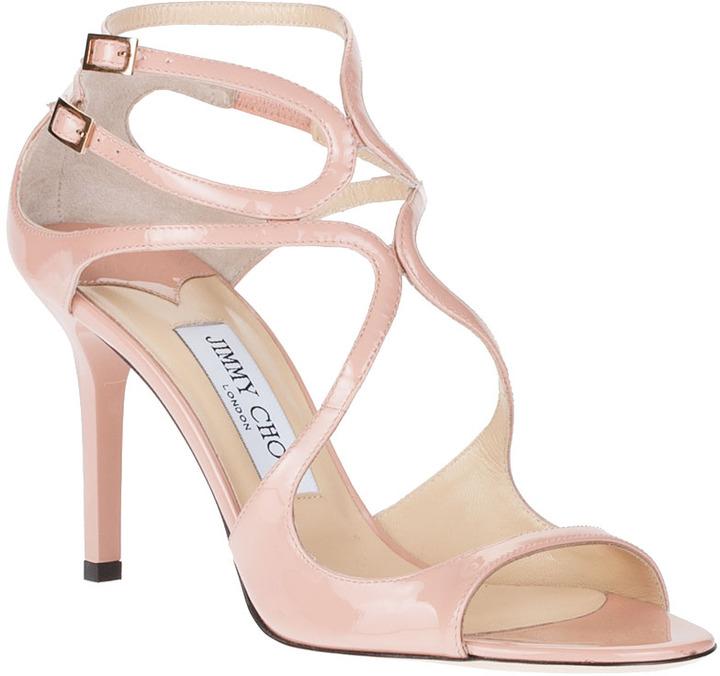 Jimmy Choo Ivette blush patent leather sandal
