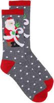 K. Bell Women's Santa's List Women's's Crew Socks -Grey