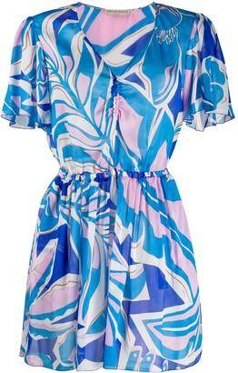 Emilio Pucci Printed Short Beach Dress