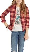 Billabong Desert Moons Plaid Flannel Shirt (Little Girls)