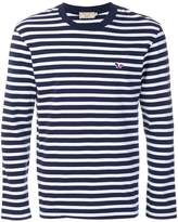 MAISON KITSUNÉ striped long-sleeve T-shirt