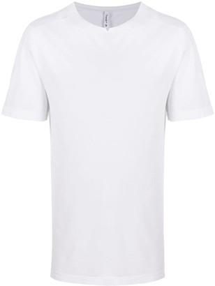 Transit notched neck cotton blend T-shirt