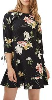 Topshop Women's Ruffle Floral Tea Dress