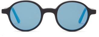 L.g.r Sunglasses - Reunion Round Acetate Sunglasses - Blue