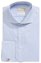 Michael Michael Kors Slim Fit Non Iron Dot Stripe French Cuff Dress Shirt