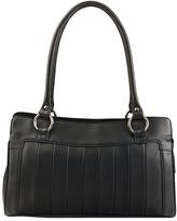 Visconti Black Stripe Leather Tote