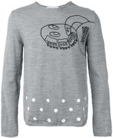 Comme des Garcons robot print sweater - men - Wool - M