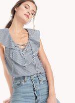 Ella Moss Azur Stripe Ruffle Top