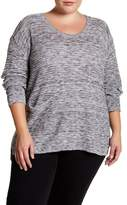 Susina Long Sleeve Hatchi Knit Sweater (Plus Size)