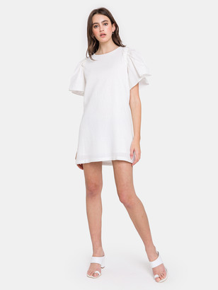 ENGLISH FACTORY Woven Mixed Flare Sleeves Dress