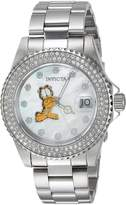 Invicta Women's Garfield Character 200m Mother of Pearl S. Steel Watch 24868