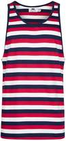 Topman Navy And Red Stripe Vest