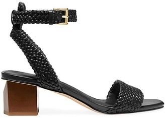 MICHAEL Michael Kors Petra Ankle-Strap Braided Leather Sandals
