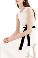 J.Crew Petite Women's Velvet Tie A-Line Dress