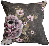 """Graham & Brown Gray Floral 20"""" Square Decorative Pillow"""
