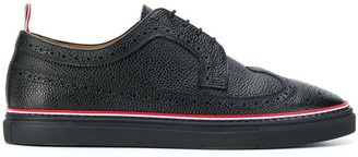 Thom Browne Pebble-Grain Piped-Trim Brogues