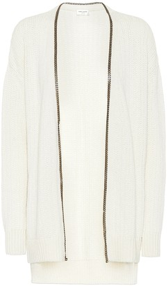 Saint Laurent College chain-trimmed cardigan