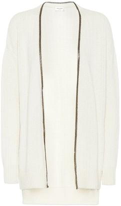 Saint Laurent College chain-trimmed cardigan